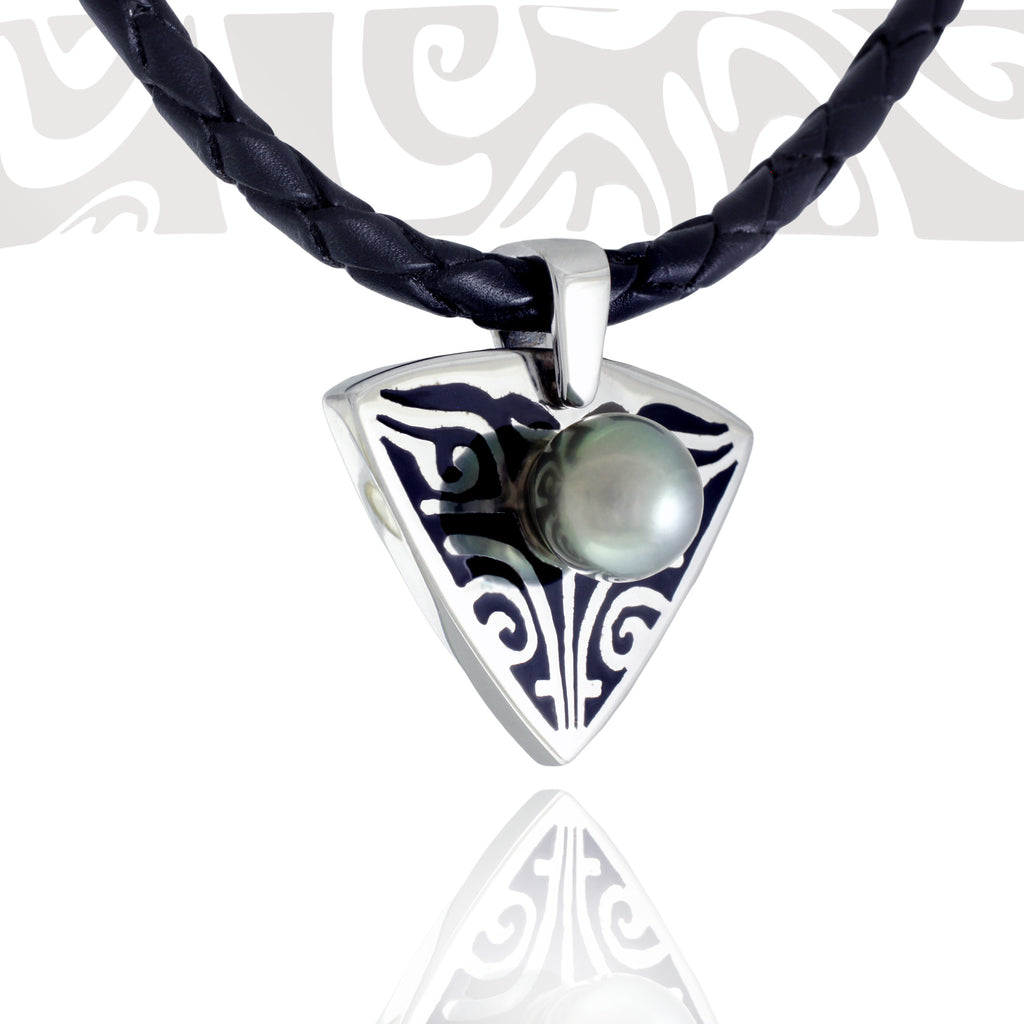 Tahitian pearl necklace - Tribal Identity - NDOMPE01274
