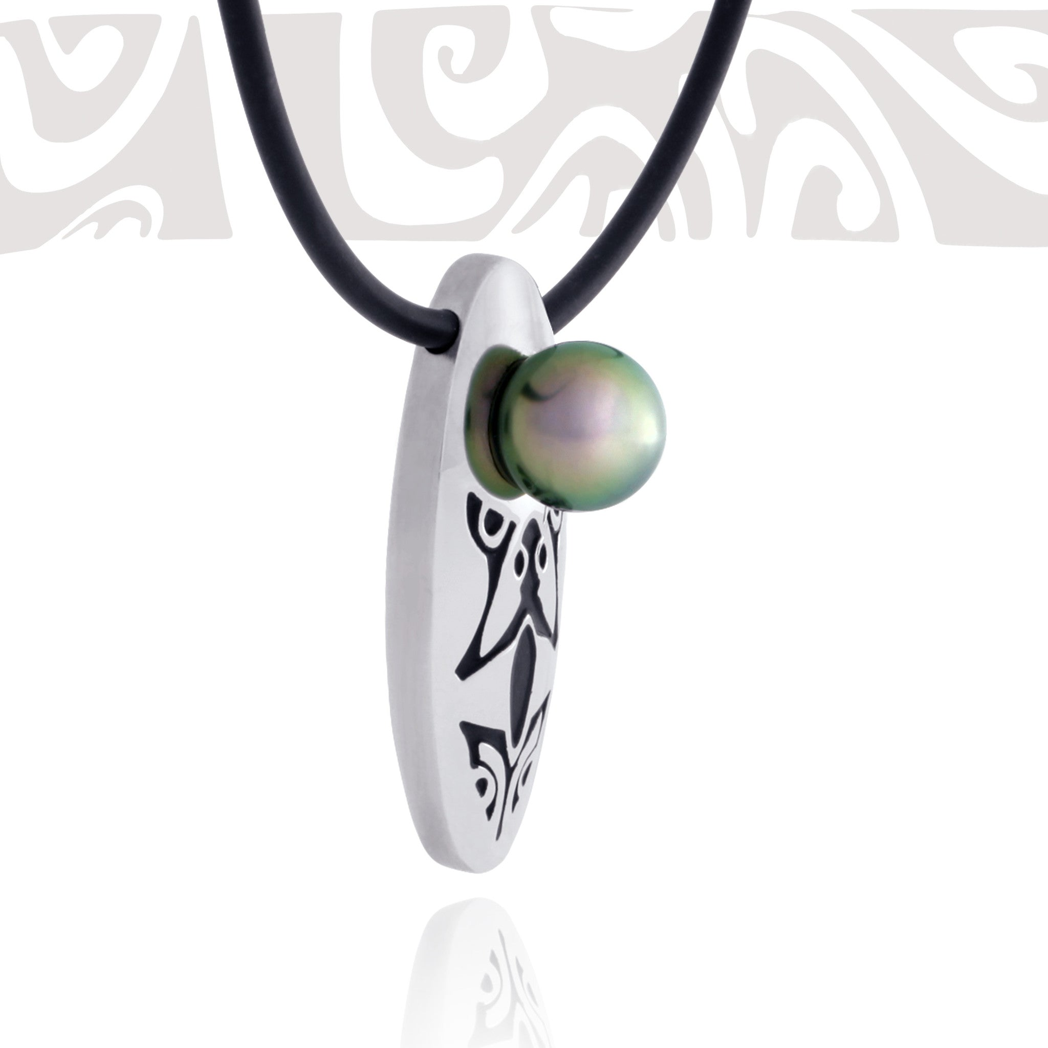 Tahitian pearl necklace - Tribal Identity - NDSSPE00049