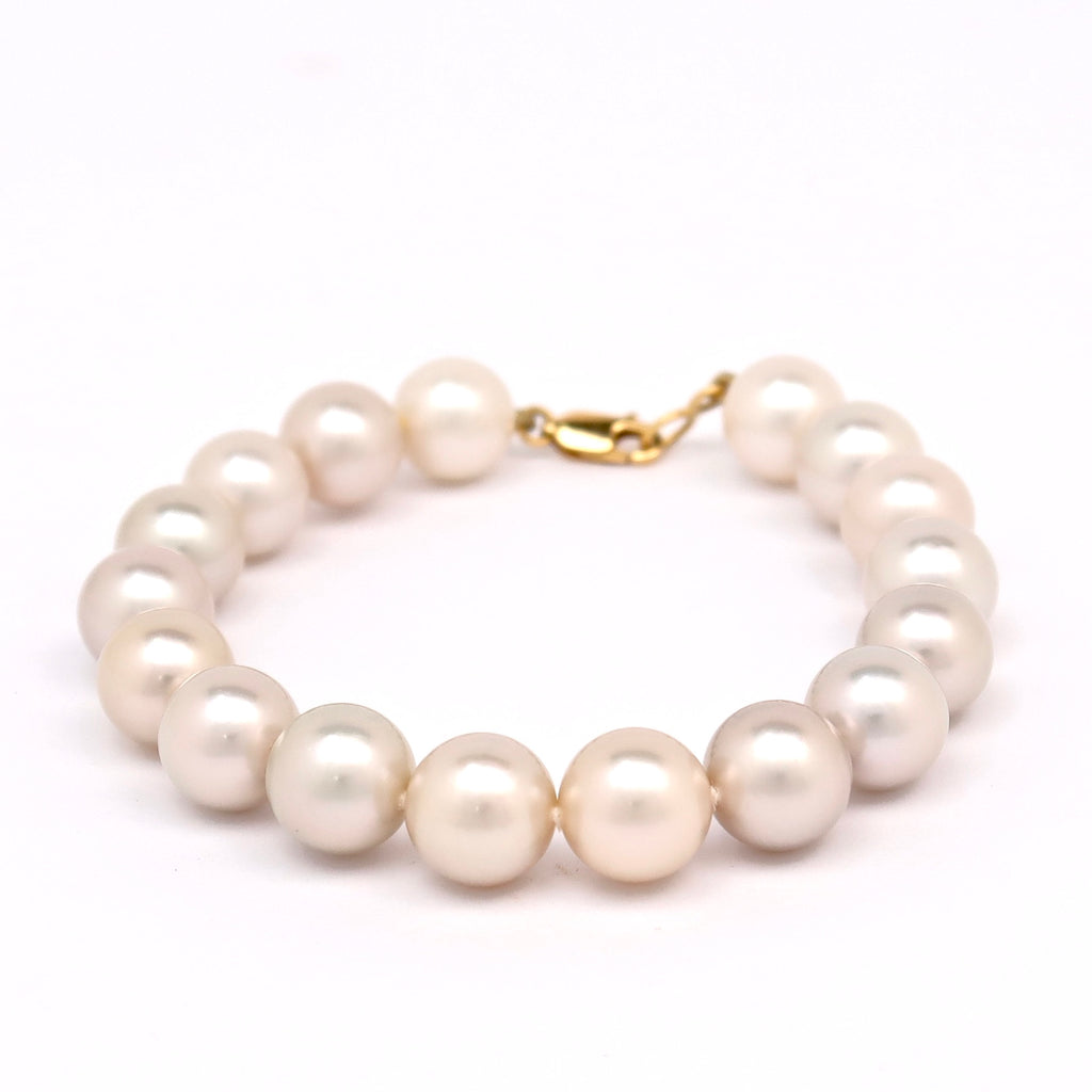 Tahitian Pearl Bracelet with White pearls - BRPOJX1613