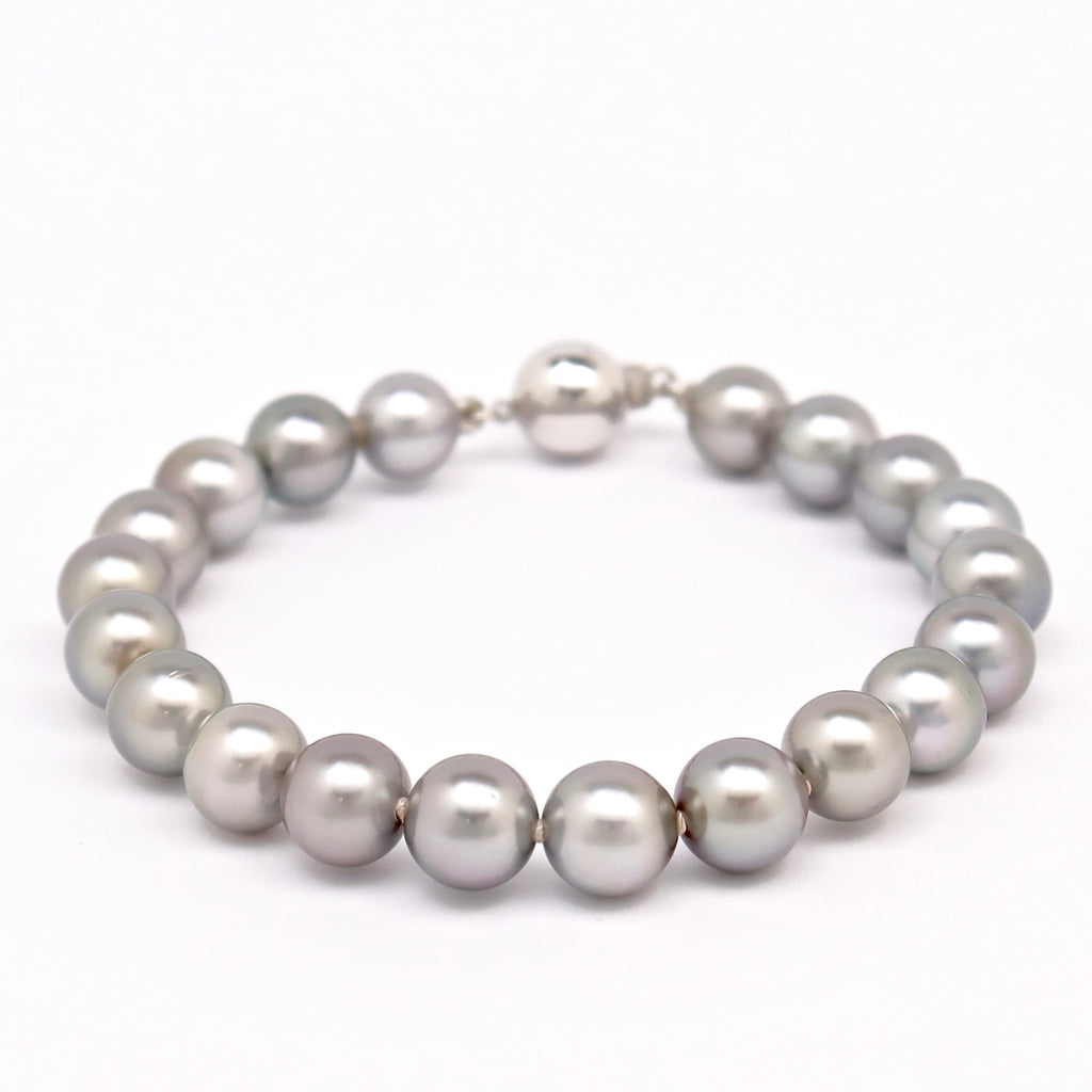 Tahitian Pearl Bracelet with Grey pearls - BRPOGX2100