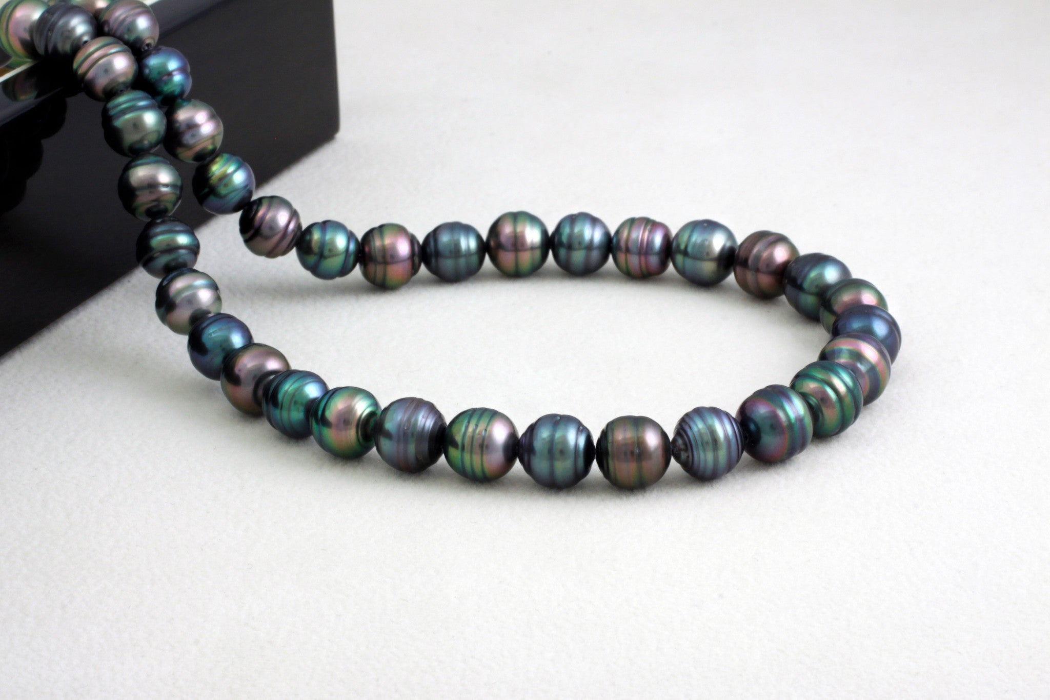 Tahitian pearl strand - Gold plated clasp - NECAUN02246