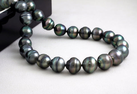 Tahitian pearl strand - Silver clasp - NESVPE01045