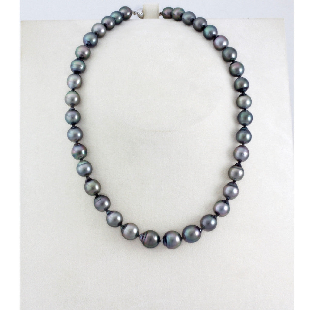 Tahitian pearl strand - Silver clasp - NESVPE01066