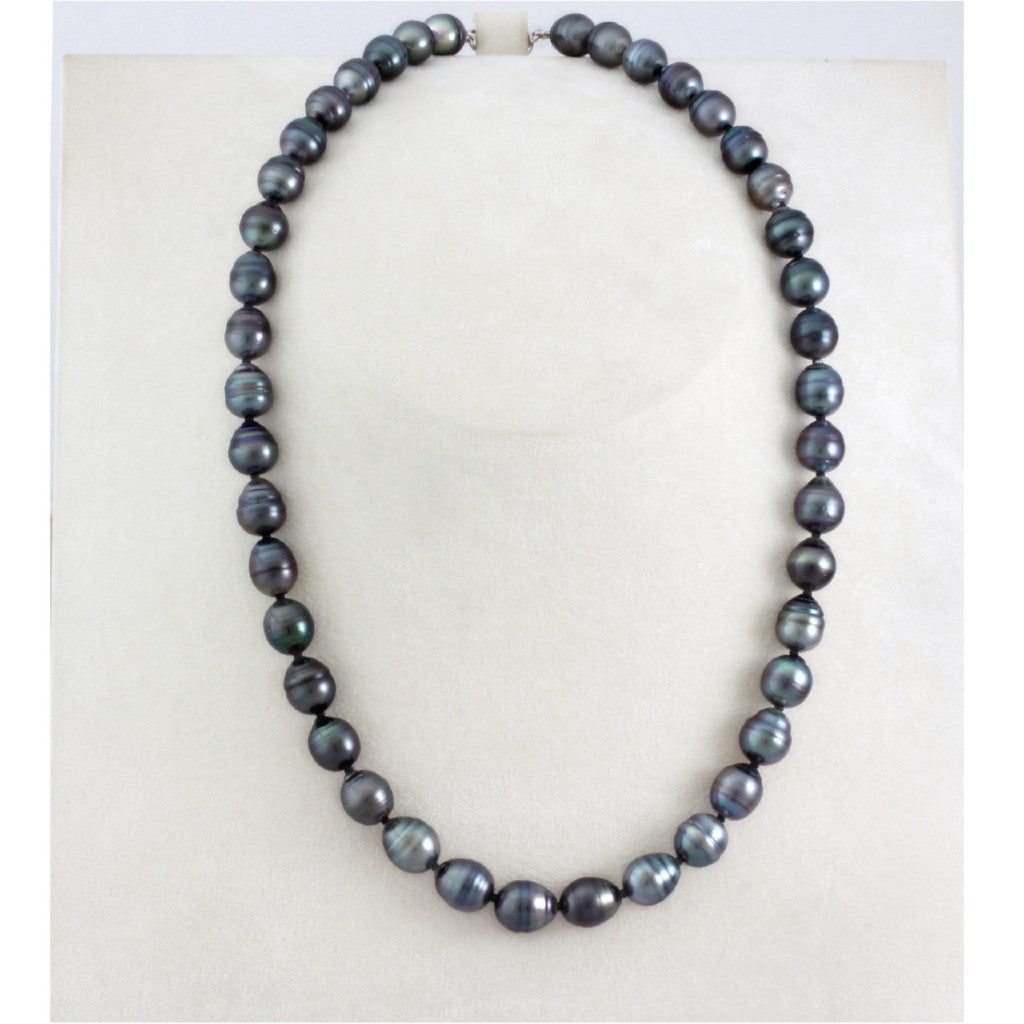 Tahitian pearl strand - Silver clasp - NESVPE01113
