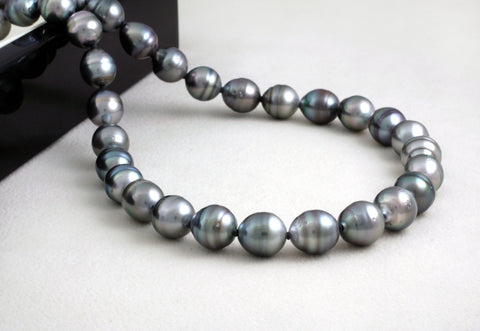 Tahitian pearl strand - Silver clasp - NESVPE01117