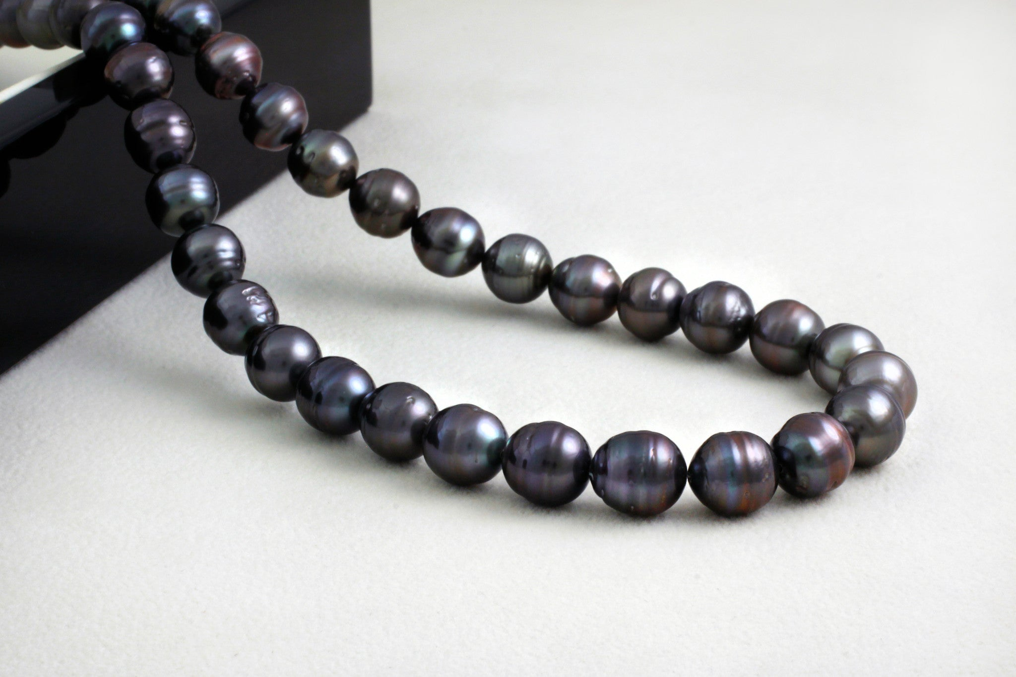 Tahitian pearl strand - Silver clasp - NESVPE01134