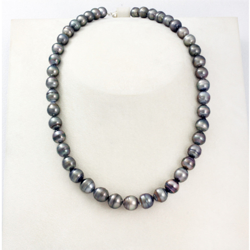 Tahitian pearl strand - Silver clasp - NESVPE01136
