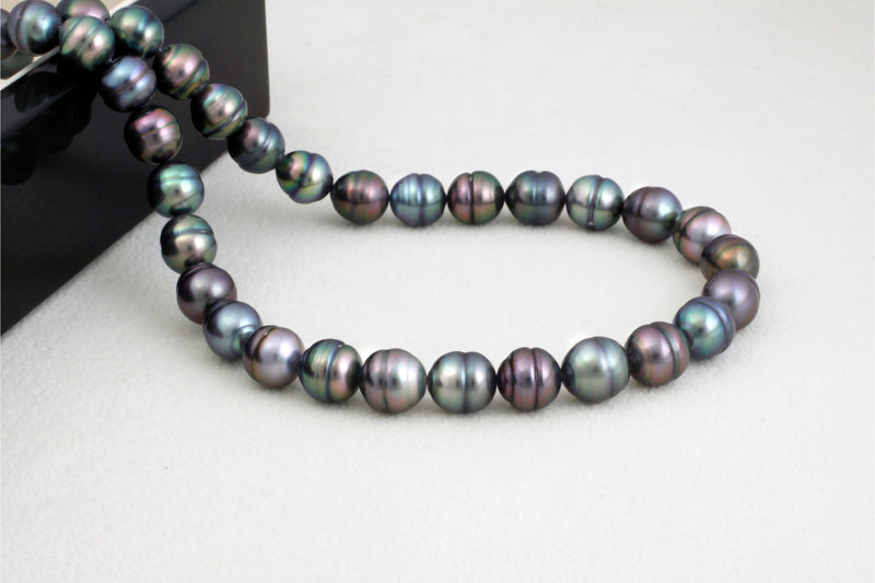 Tahitian pearl strand - Gold plated clasp - NECAUN02249
