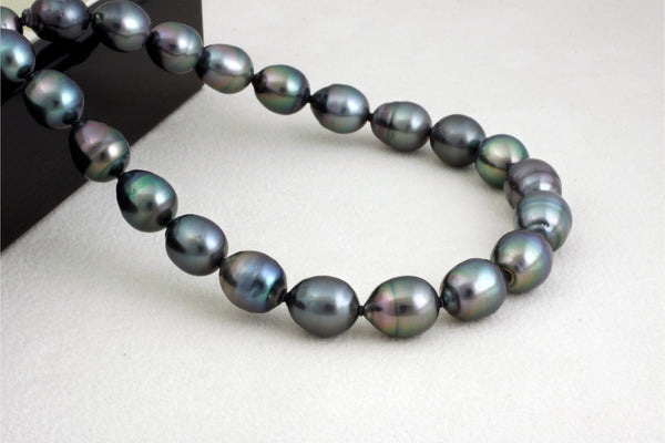 Tahitian pearl strand - Silver clasp - NESVPE01034