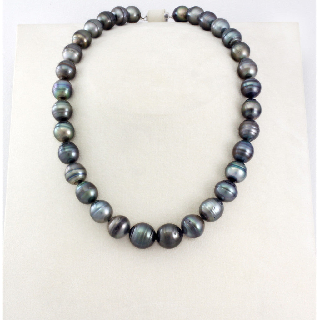 Tahitian pearl strand - Silver clasp - NESVPE01042