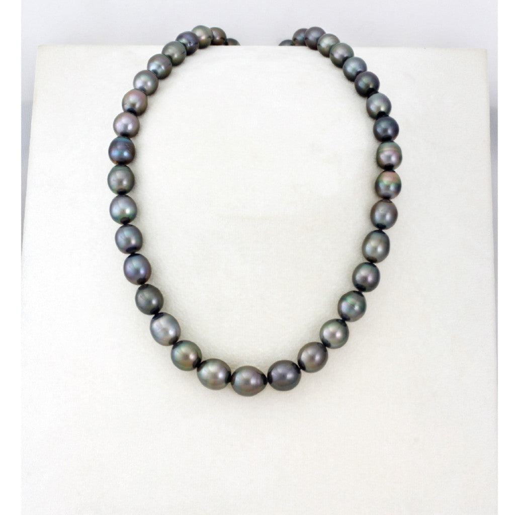 Tahitian pearl strand - Silver clasp - NESVPE01080
