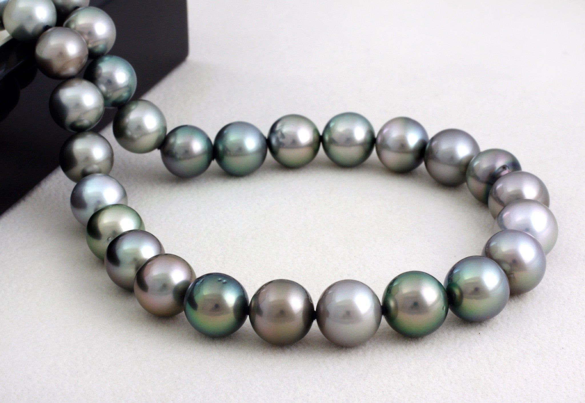 Tahitian pearl strand - Silver clasp - NESVPE01087