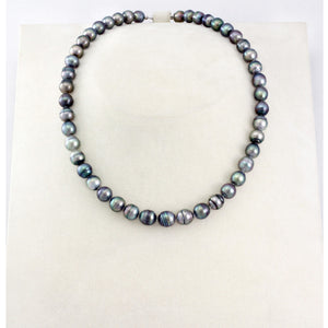 Tahitian pearl strand - Silver clasp - NESVPE01093