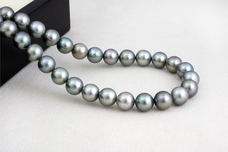 Tahitian pearl strand - Silver clasp - NESVPE01106