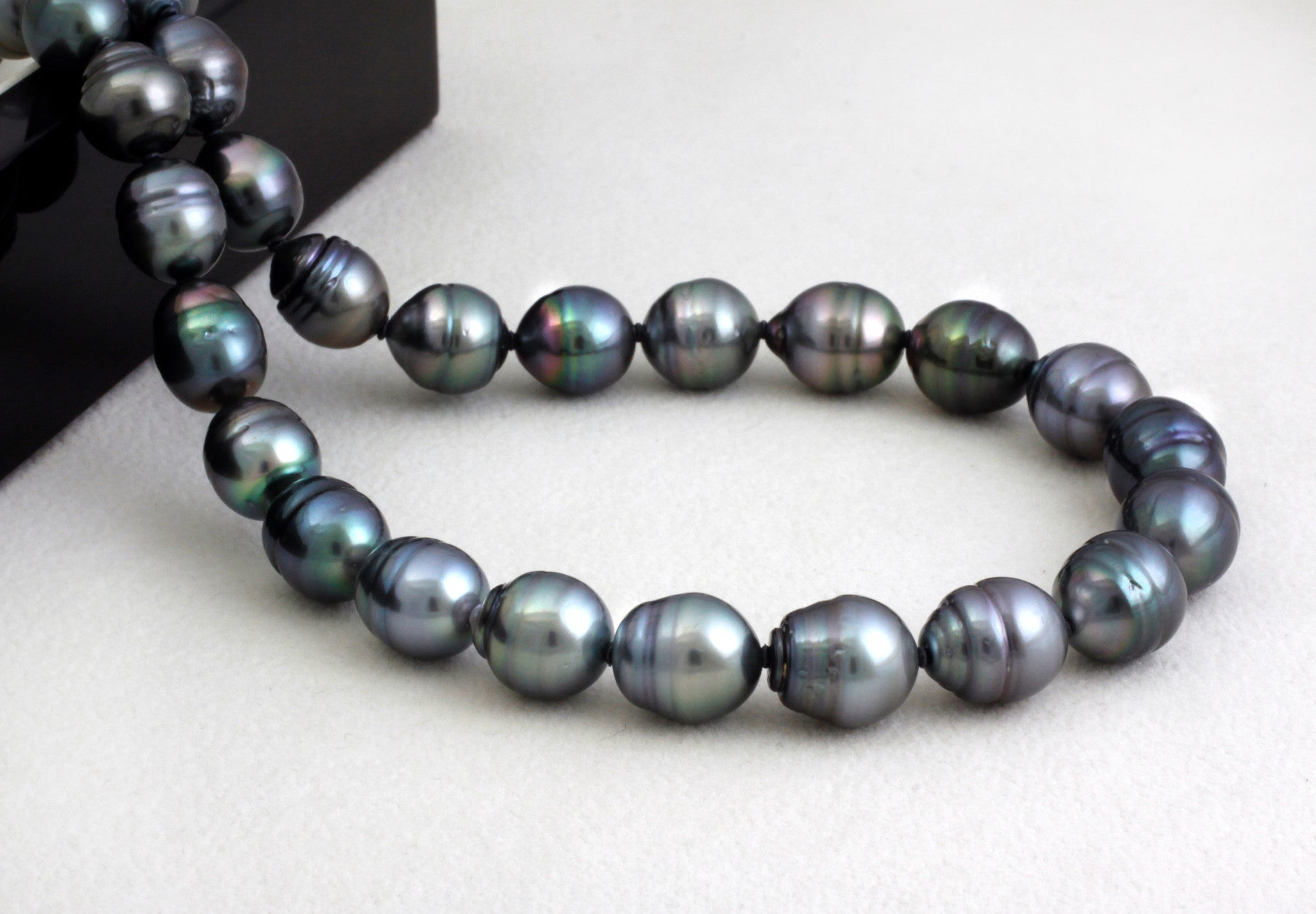Tahitian pearl strand - Silver clasp - NESVPE01111