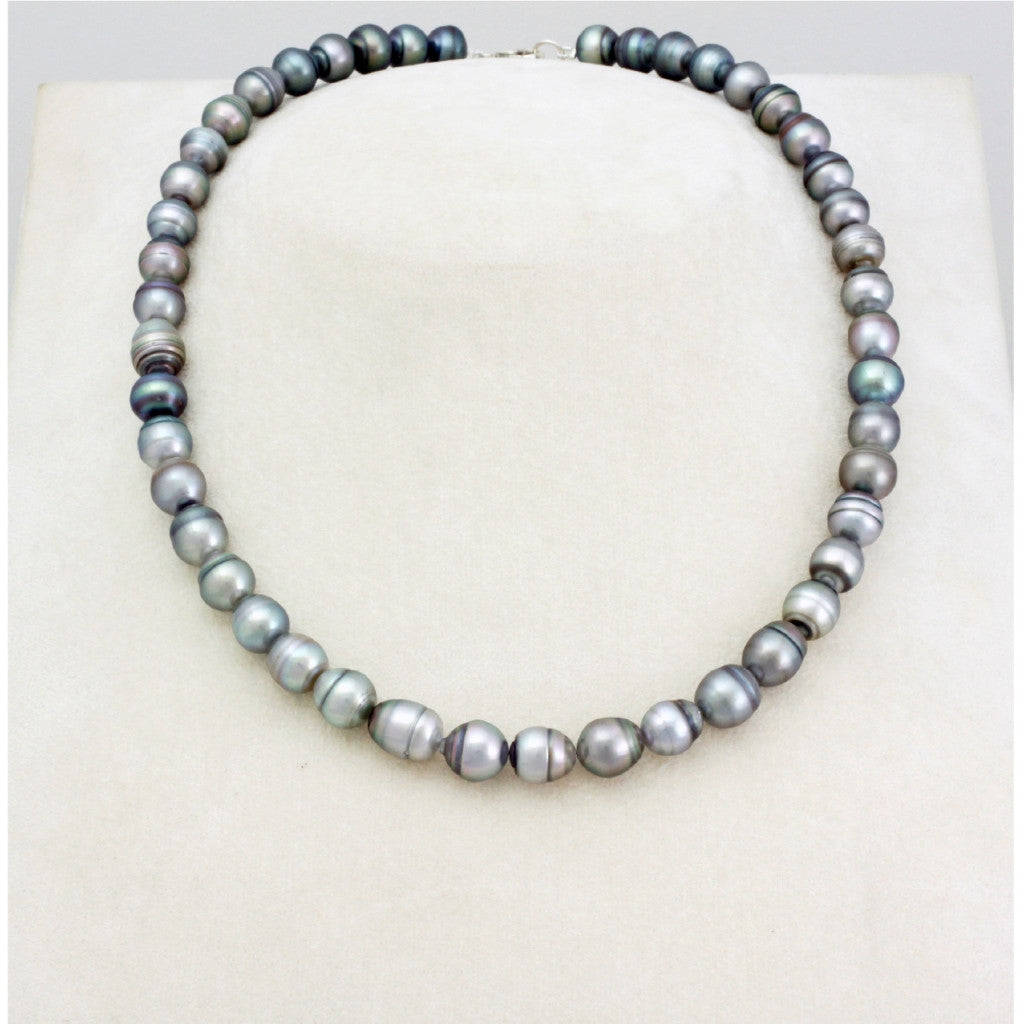 Tahitian pearl strand - silver clasp - NESVPE01140