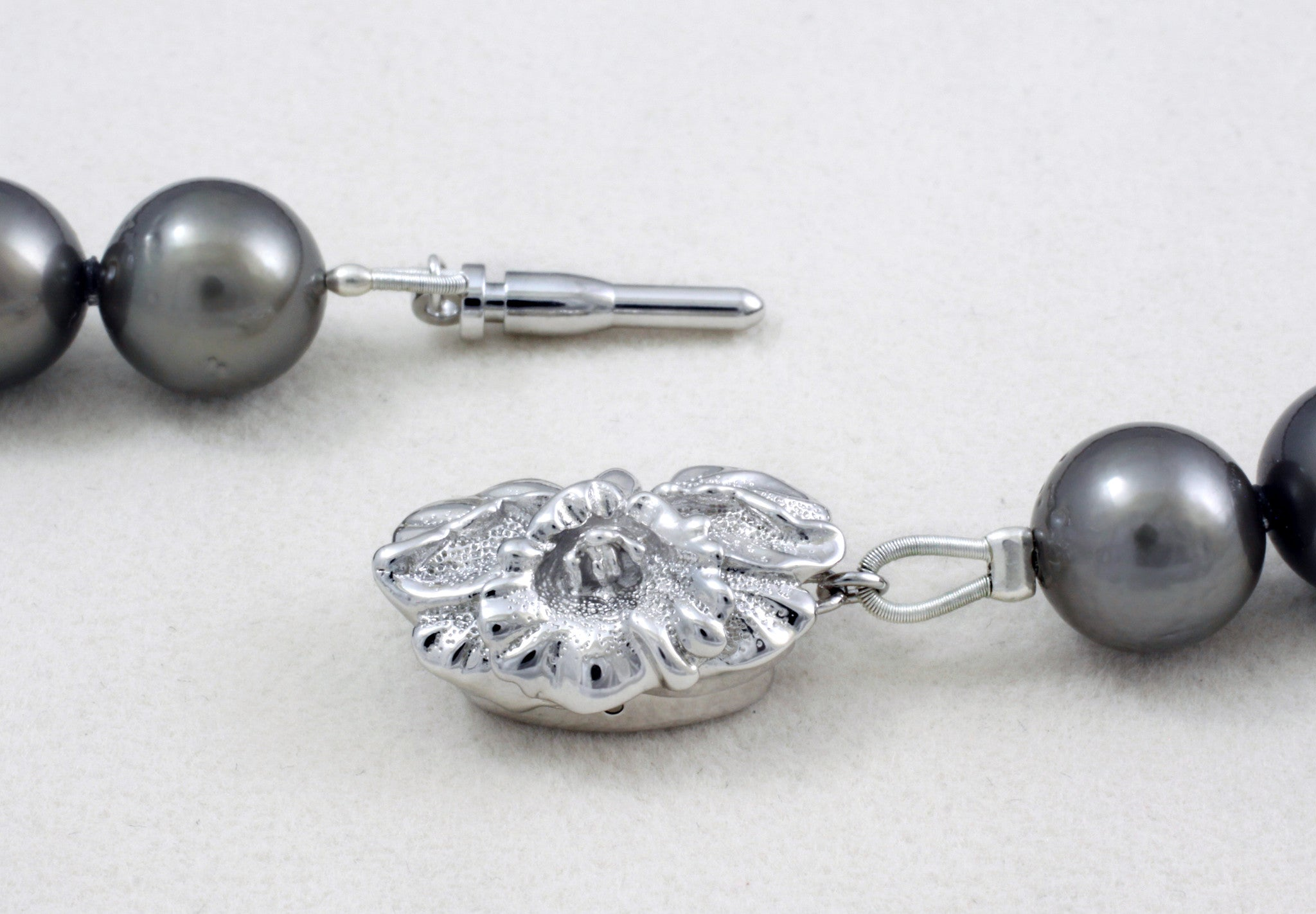 Tahitian pearl strand - Silver clasp - NESVPE01154