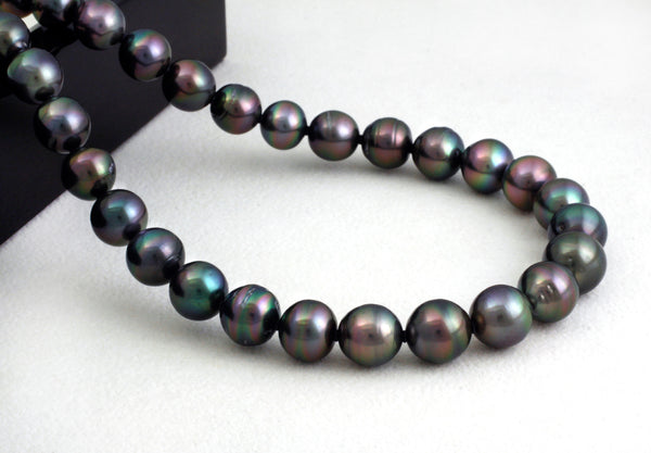 Tahitian pearl strand - Silver clasp - NESZPE00003