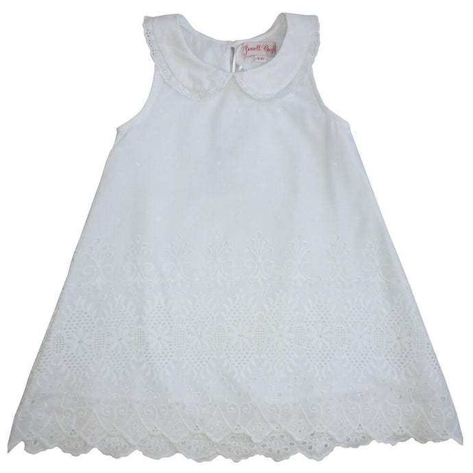 Dress White lace with embroidery