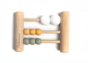 Wooden Abacus Mustard