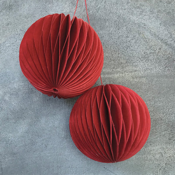 Bauble Set of 2 in Red