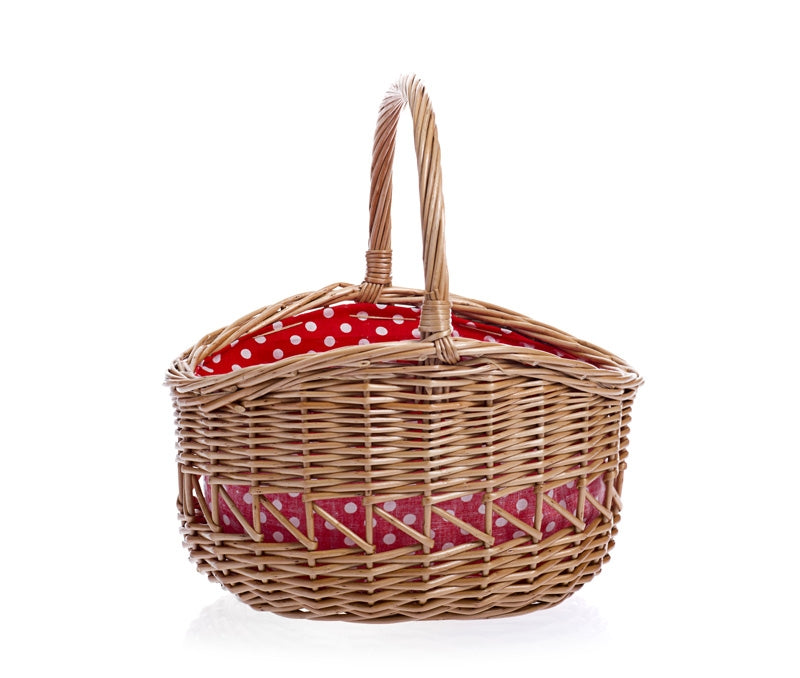 Basket with spots red Large