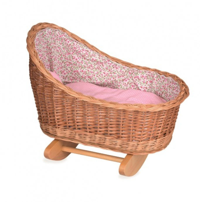 Cradle with pink flowers