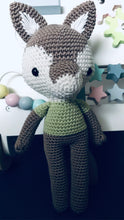 Load image into Gallery viewer, Bill the Wolf Crochet animal