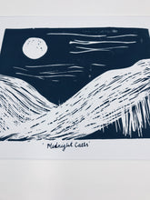 Load image into Gallery viewer, Midnight calls lino print