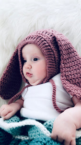 Crochet Rabbit hat one size
