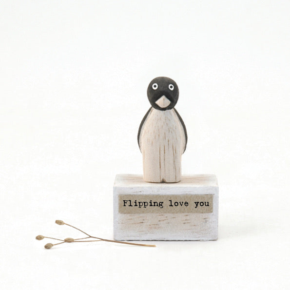 Mini ornament Flipping love you Penguin