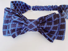 Load image into Gallery viewer, Blue Madeline Bow headband