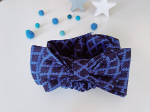 Blue Madeline Bow headband