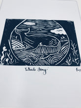 Load image into Gallery viewer, Whale song lino print
