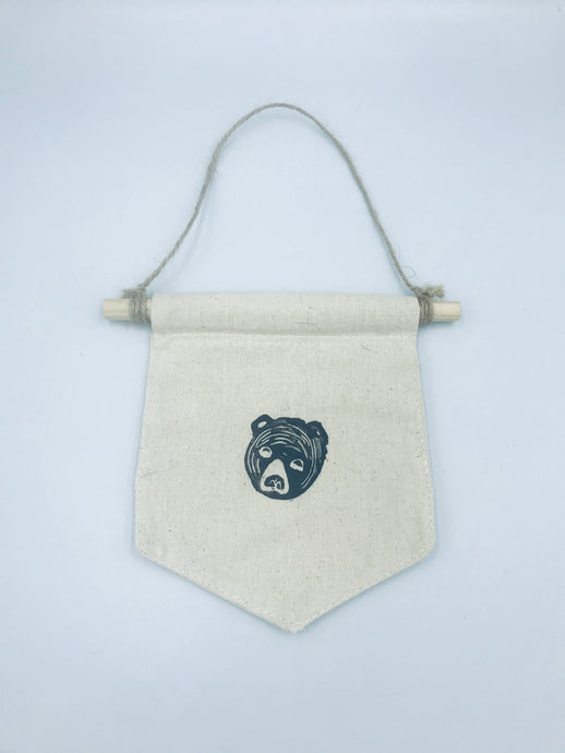 Bear pennant wall hanging