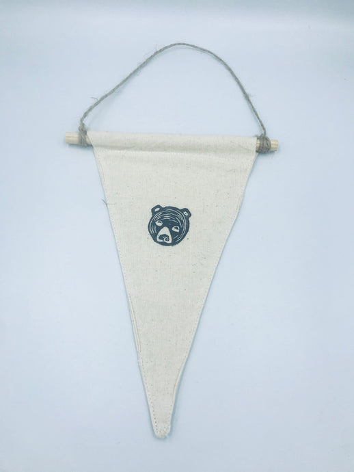 Pennant flag Bear wall hanging