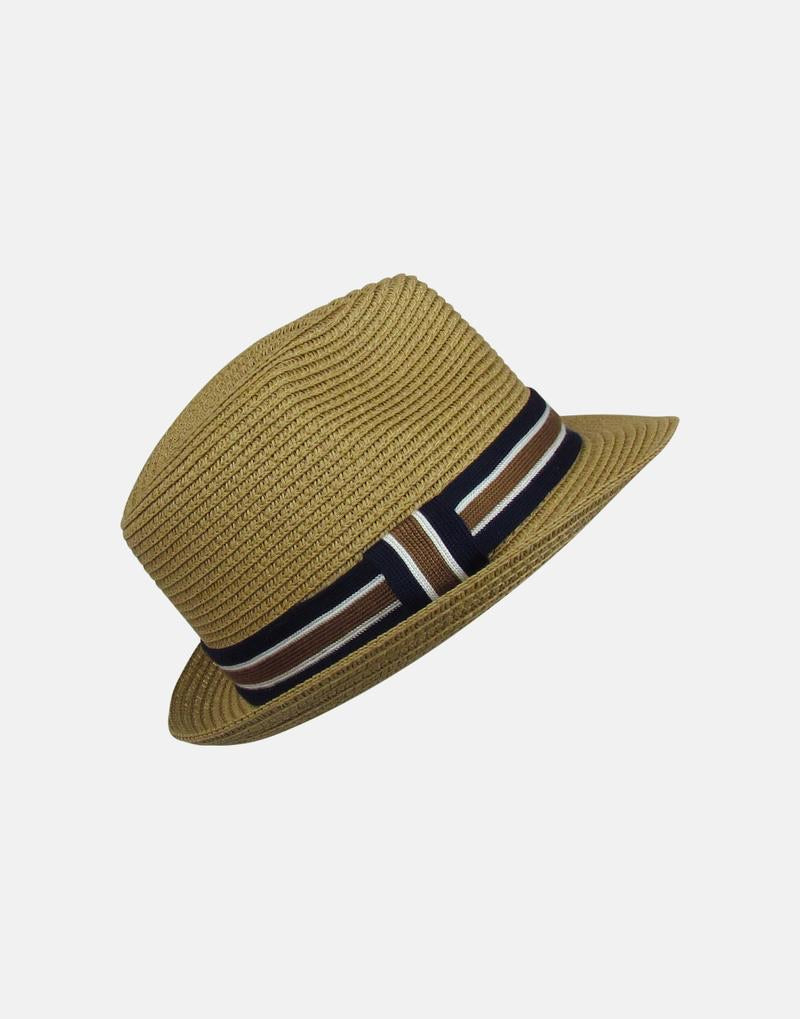 Toby straw hat with stripe