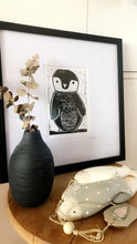 Load image into Gallery viewer, Lino Print Framed 'Solo Penguin'
