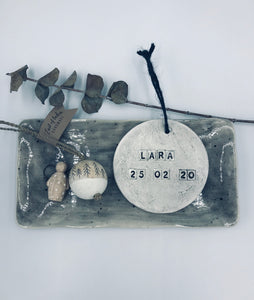 Personalised ceramic hanger
