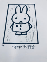 Load image into Gallery viewer, Mono Miffy Lino print