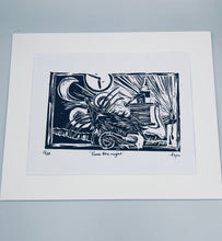 "Load image into Gallery viewer, ''Twas the night"" lino print"