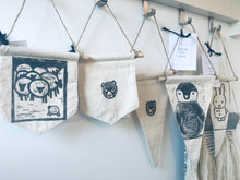 Load image into Gallery viewer, Bear pennant wall hanging