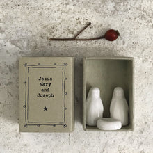 Load image into Gallery viewer, Ceramic Mary, Joseph and Jesus matchbox