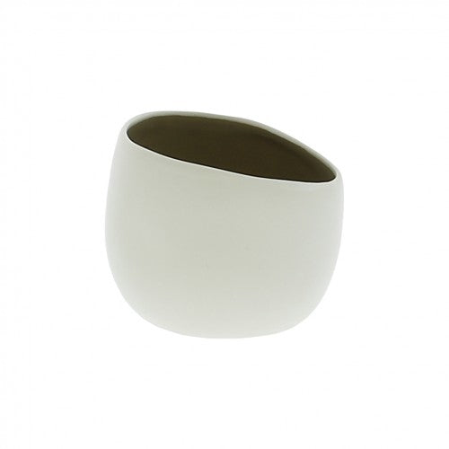 Tealight Holder Ceramic white small