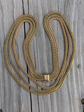 Load image into Gallery viewer, 18k Gold Tri-Strand Wheat Chain