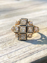 Load image into Gallery viewer, 14K Yellow Gold Diamond Cruciform Ring