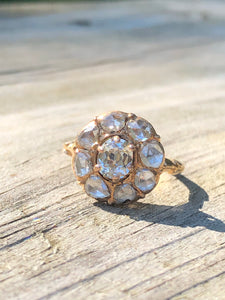 1.39ctw Antique Diamond Cluster Ring