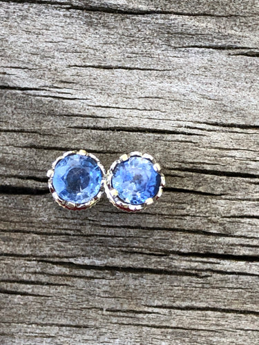 1.25ct Sapphire18k White Gold  Stud Earrings