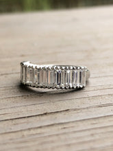 Load image into Gallery viewer, Estate 2.4ct Platinum Baguette Diamond Half Eternity Ring