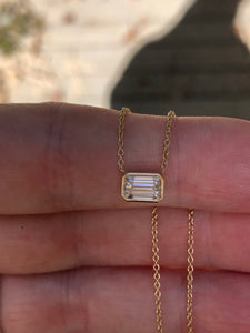 GIA .70 G VVS2 Carat Emerald Cut Choker Necklace